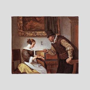The Harpsichord Lesson Throw Blanket
