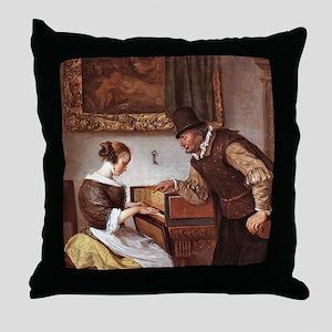 The Harpsichord Lesson Throw Pillow