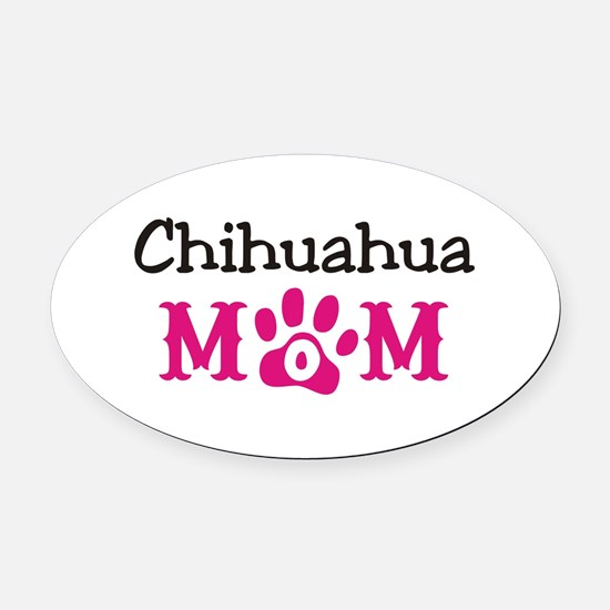Chihuahua Oval Car Magnet