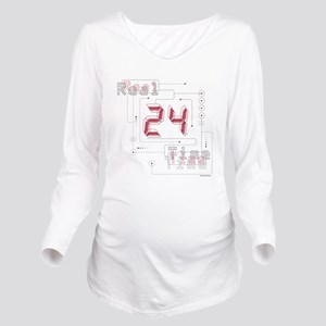 24 Real Time Long Sleeve Maternity T-Shirt