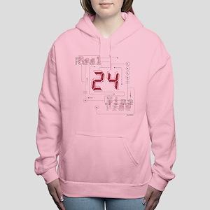 24 Real Time Women's Hooded Sweatshirt