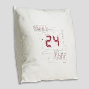 24 Real Time Burlap Throw Pillow
