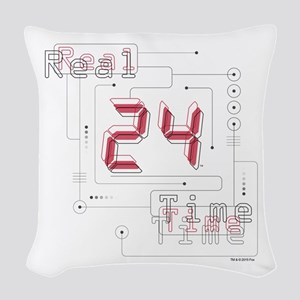 24 Real Time Woven Throw Pillow