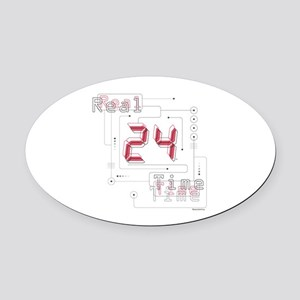 24 Real Time Oval Car Magnet