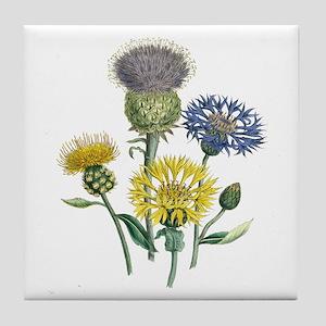 Vintage Flowers Tile Coaster