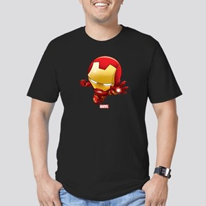 Iron Man Stylized 2 Men's Fitted T-Shirt (dark)