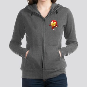 Iron Man Stylized 2 Women's Zip Hoodie