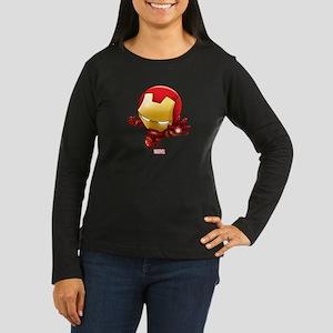 Iron Man Stylized Women's Long Sleeve Dark T-Shirt
