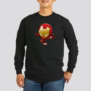 Iron Man Stylized 2 Long Sleeve Dark T-Shirt