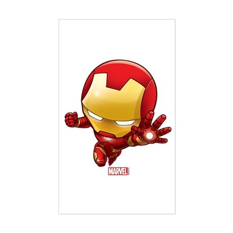 Iron man stylized 2 sticker rectangle by theavengers
