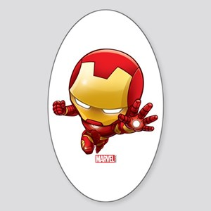 Iron Man Stylized 2 Sticker (Oval)