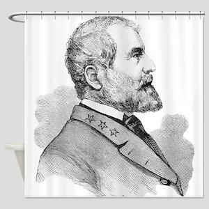 Robert E Lee Portrait Illustration Shower Curtain