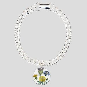 Vintage Flowers Charm Bracelet, One Charm