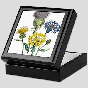 Vintage Flowers Keepsake Box