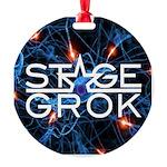 Stage Grok Round Ornament