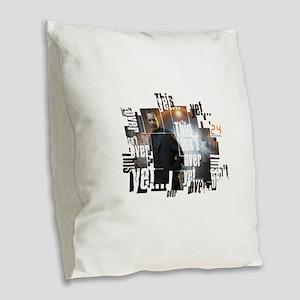 24 Not Over Yet Burlap Throw Pillow