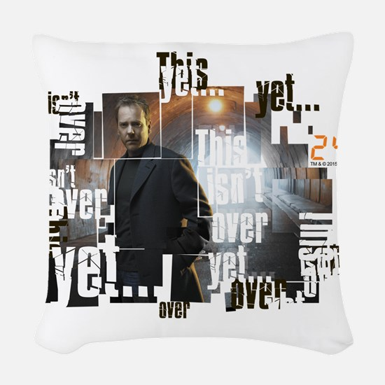 24 Not Over Yet Woven Throw Pillow