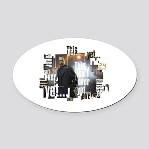 24 Not Over Yet Oval Car Magnet