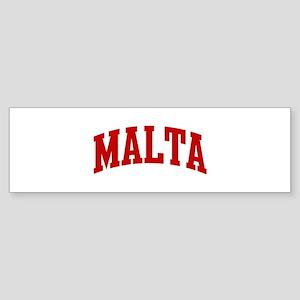 MALTA (red) Bumper Sticker