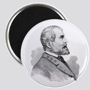 Robert E Lee Portrait Illustration Magnets