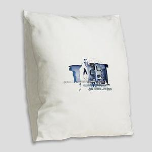 24 Angry Burlap Throw Pillow