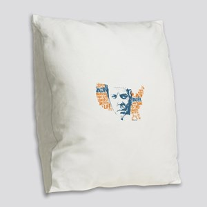 24 Jack Burlap Throw Pillow