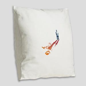 24 Shadow Burlap Throw Pillow