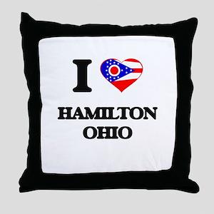 I love Hamilton Ohio Throw Pillow