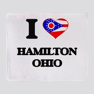 I love Hamilton Ohio Throw Blanket