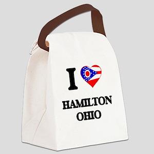 I love Hamilton Ohio Canvas Lunch Bag