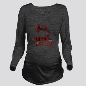 24 Go Dark Long Sleeve Maternity T-Shirt