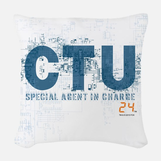 24 Special Agent Woven Throw Pillow