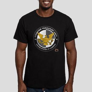 24 CTU Logo Men's Fitted T-Shirt (dark)