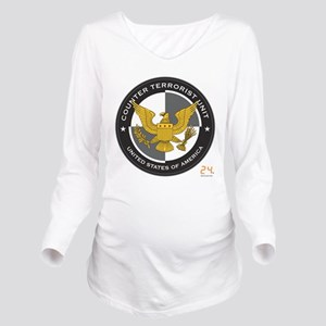 24 CTU Logo Long Sleeve Maternity T-Shirt