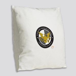 24 CTU Logo Burlap Throw Pillow