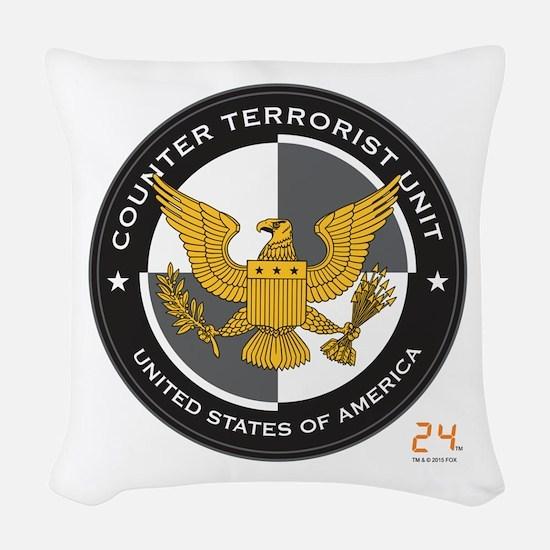 24 CTU Logo Woven Throw Pillow