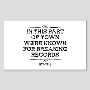 Nashville: Breaking Records Sticker (Rectangle)