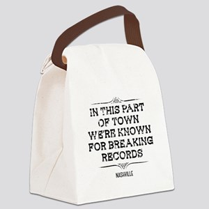 Nashville: Breaking Records Canvas Lunch Bag