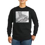 Cheetah Cub Long Sleeve Dark T-Shirt