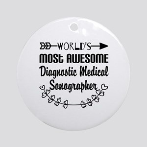 Diagnostic Medical Sonographer Ornament (Round)