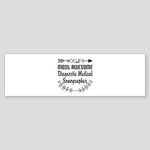 Diagnostic Medical Sonographer Sticker (Bumper)
