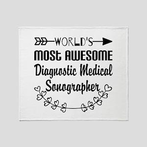 Diagnostic Medical Sonographer Throw Blanket