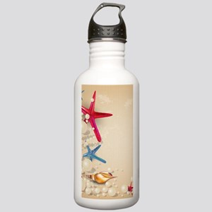 Decorative Summer Beac Stainless Water Bottle 1.0L