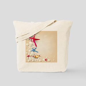 Decorative Summer Beach Sand Shells Tote Bag