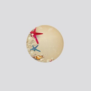 Decorative Summer Beach Sand Shells Mini Button