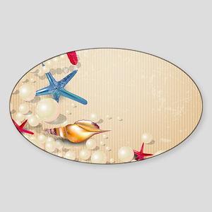 Decorative Summer Beach Sand Shells Sticker