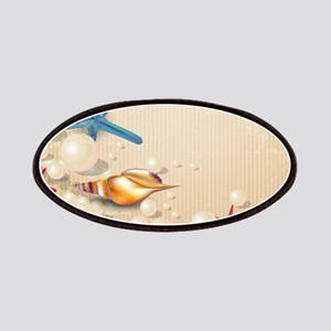 Decorative Summer Beach Sand Shells Patch