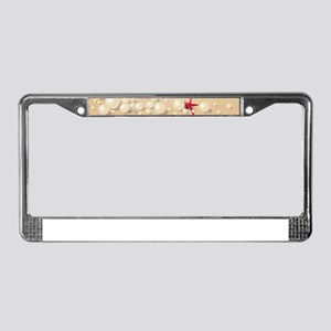 Decorative Summer Beach Sand S License Plate Frame