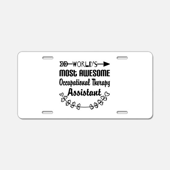 Occupational Therapy Assist Aluminum License Plate