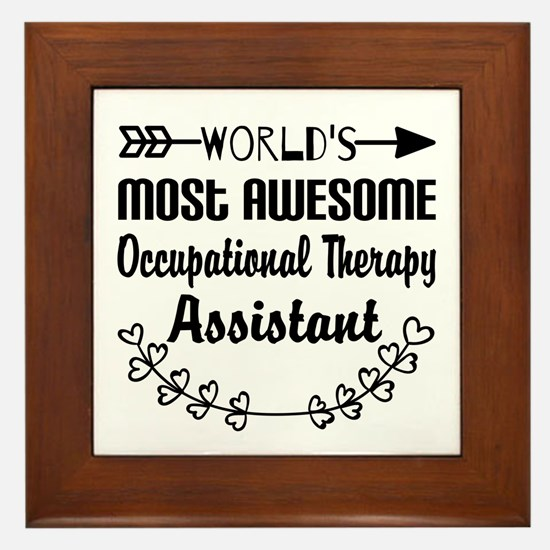 Occupational Therapy Assistant Framed Tile